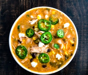 Fall Off Friday With Bourbon Chicken Enchilada Chili