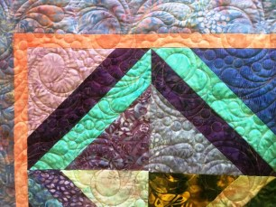 Batik quilt Gypsy Feathers panto3