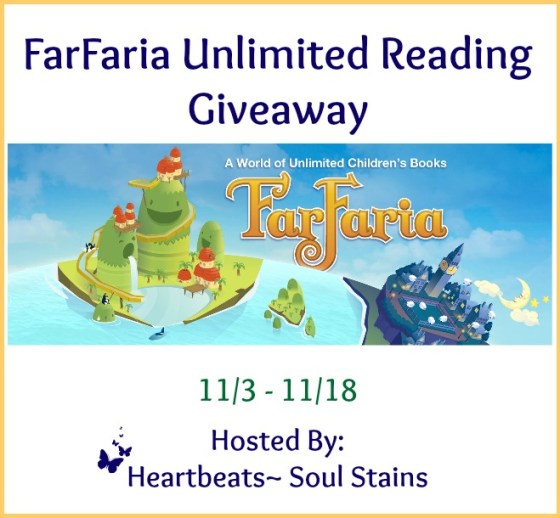Enter to win access to over 800 books in the FarFaria Unlimited Reading Giveaway