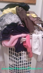 Over flowing basket of clothes