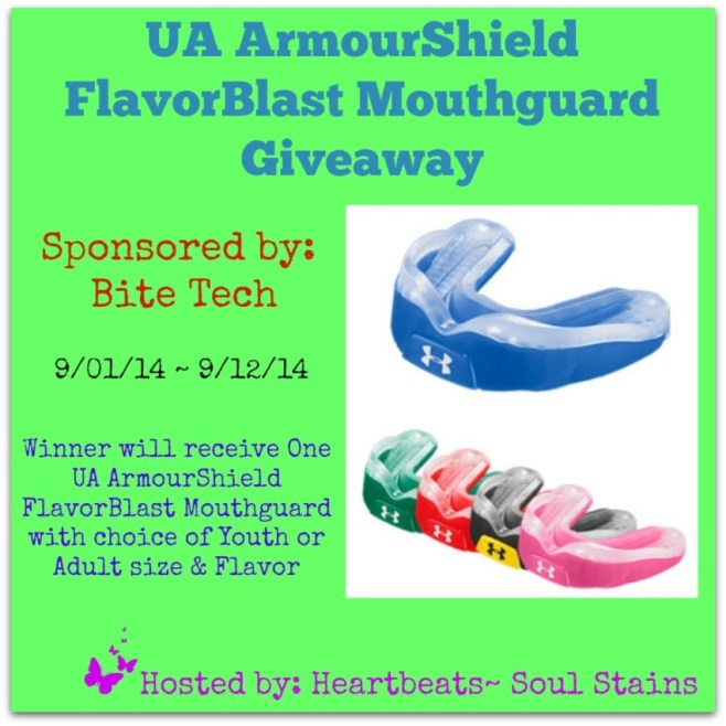 Enter to win the UA ArmourShield FlavorBlast Mouthguard Giveaway
