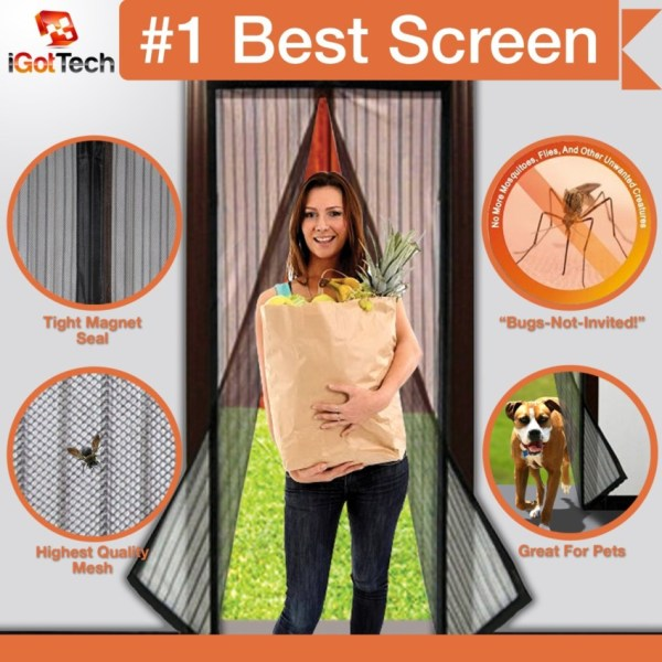 Looking for an awesome screen door to keep out the bugs?  Check out my review of Magnetic Screen Door by iGotTech