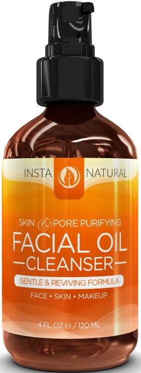 Here's a lightweight facial cleanser that leaves your face feeling clean.  Here's my review of InstaNatural's Deep Cleansing Facial Oil