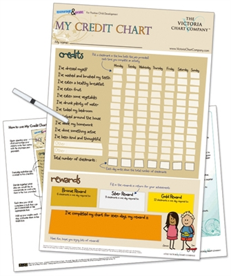 Looking for a way to bring motivation and encouragement to your elementary age child? Try this My Credit Reward chart