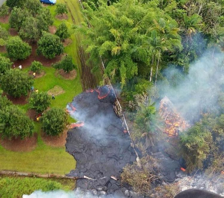 Puna Lava Flow heading for residents