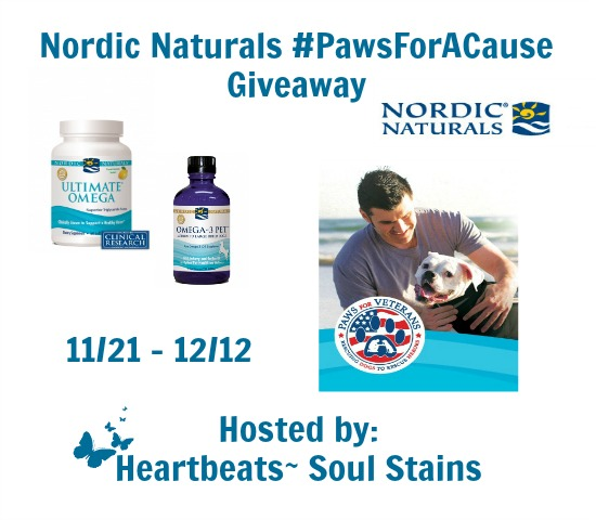Enter to win the Nordic Naturals #PawsForACause Giveaway