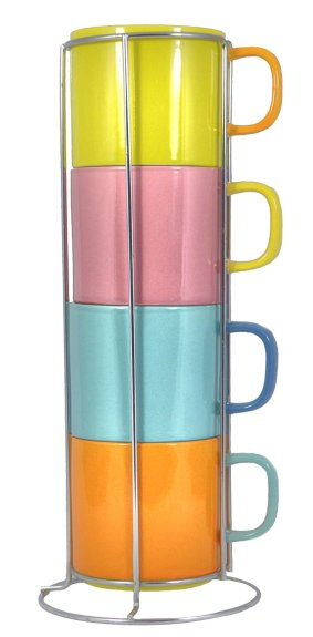 Stacking coffee mug set