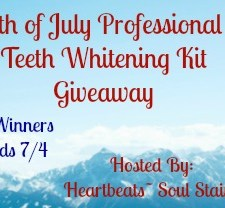 4th of July Professional Teeth Whitening Kit Giveaway