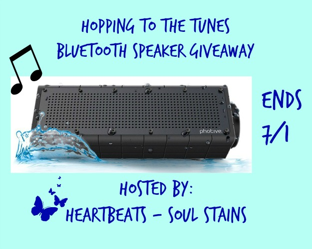 hopping to the tunes bluetooth  speaker giveaway