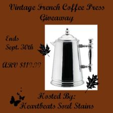 Vintage French Coffee Press Giveaway + Hop #FallingForPrizes