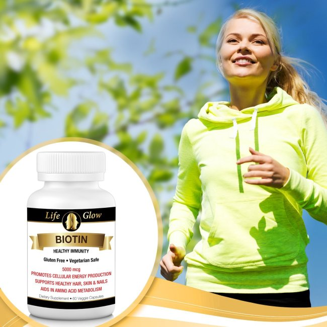 Life Glow's Biotin Supplement