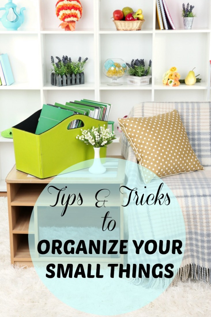 Organization Hacks For Your Small Things will keep the little clutter out of the way in your home! Follow our tips and best hacks to declutter your home!
