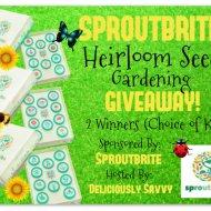 Sproutbrite Heirloom Seed Gardening Giveaway