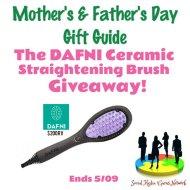 DAFNI Ceramic Straightening Brush Giveaway @DAFNI_hair @SMGurusNetwork