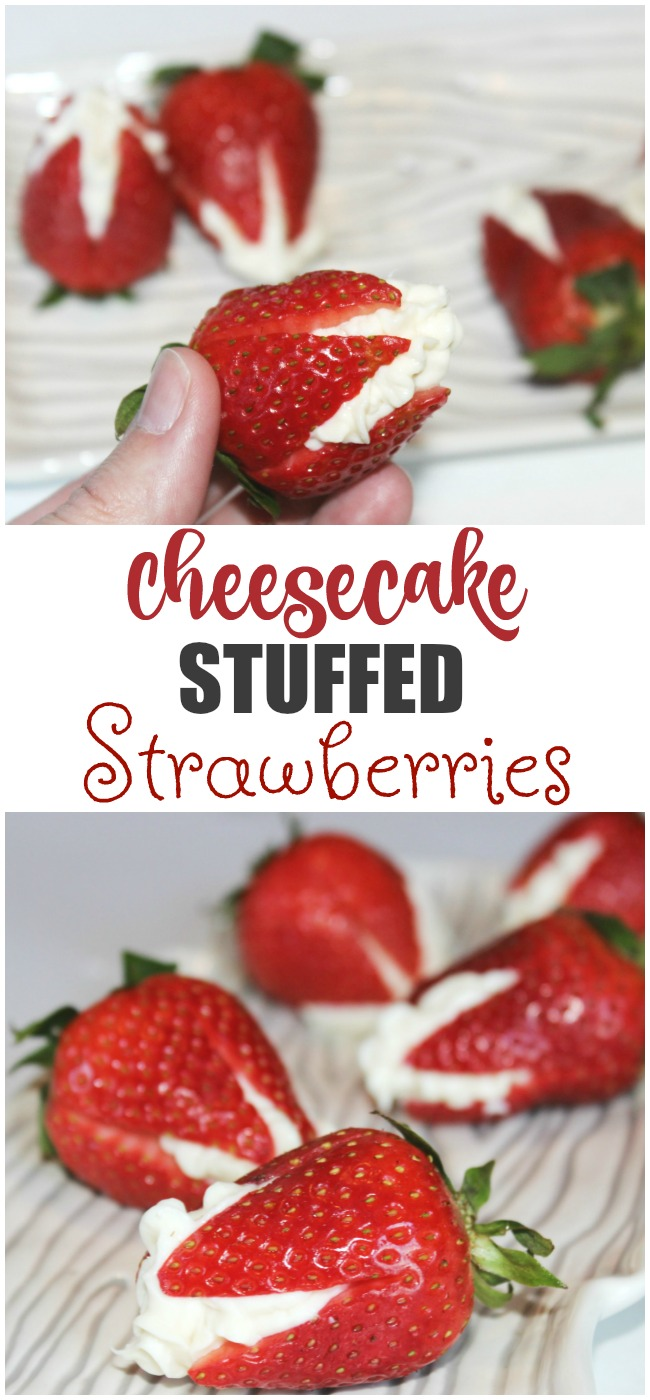 Nothing is as delicious as our Cheesecake Stuffed Strawberries for a fun summer dessert option! Make these in minutes to create a dessert everyone loves!