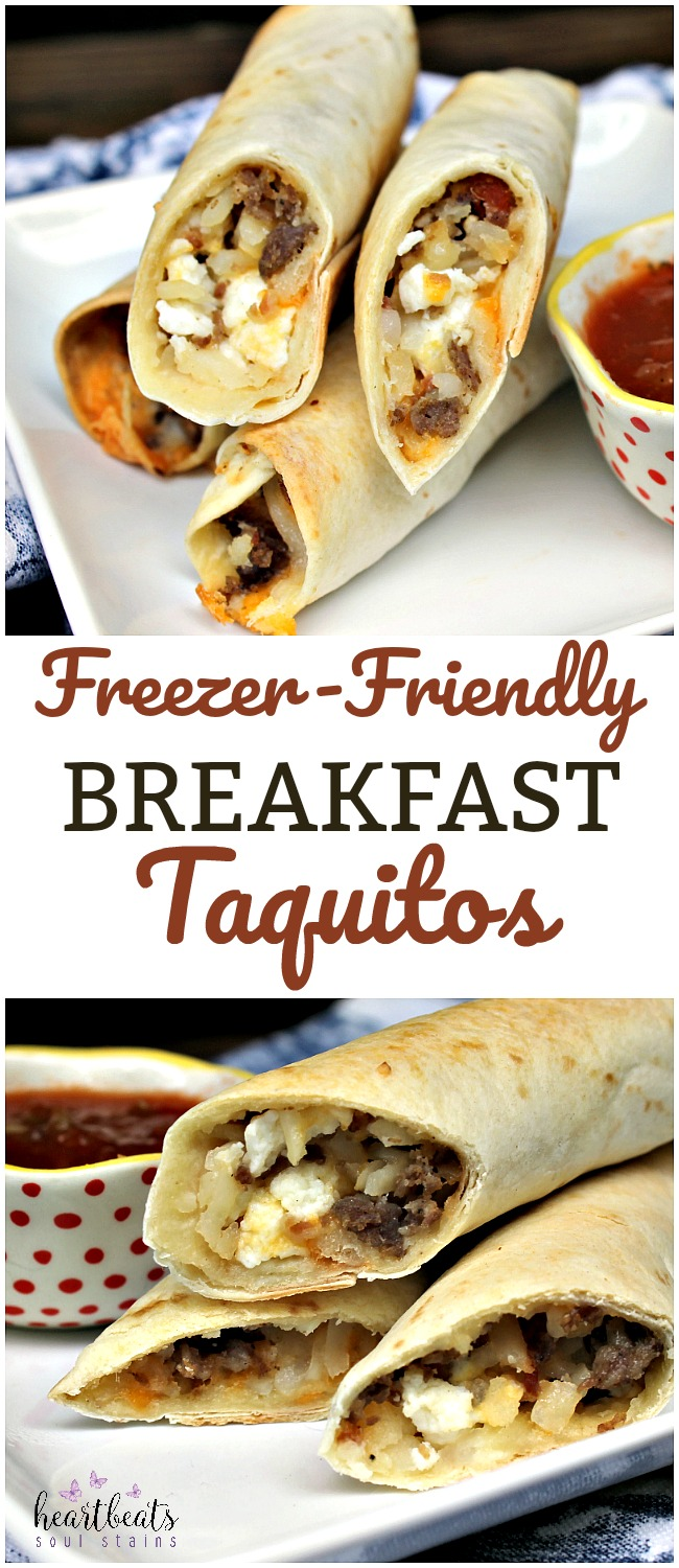 Make our Freezer Friendly Breakfast Taquito Recipe as a perfect easy meal solution! This back to school breakfast recipe is a family favorite!