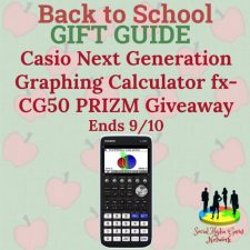Casio Next Generation Graphing Calculator fx-CG50 PRIZM Giveaway