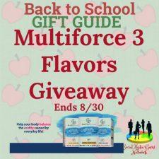 Multiforce 3 Flavors Giveaway