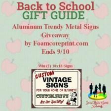 Aluminum Trendy Sign Giveaway