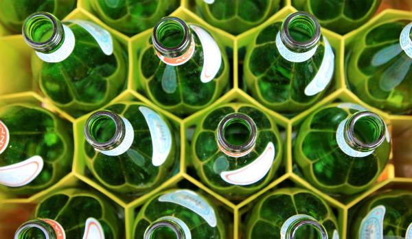 PPC management includes choosing the right keyword match type like these colorful green bottles that fit just right