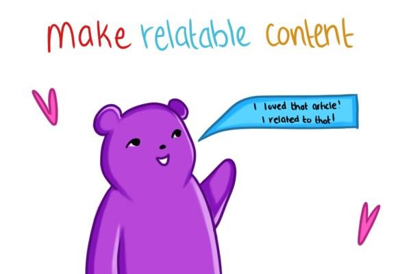 marketing strategies around relatable conten