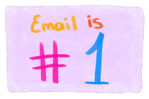 email drip campaign telling you email is number 1