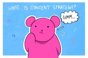 little bear thinking about a well developed content strategy