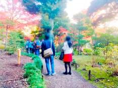 紅葉旧古河庭園〜ライトアップ六義園03