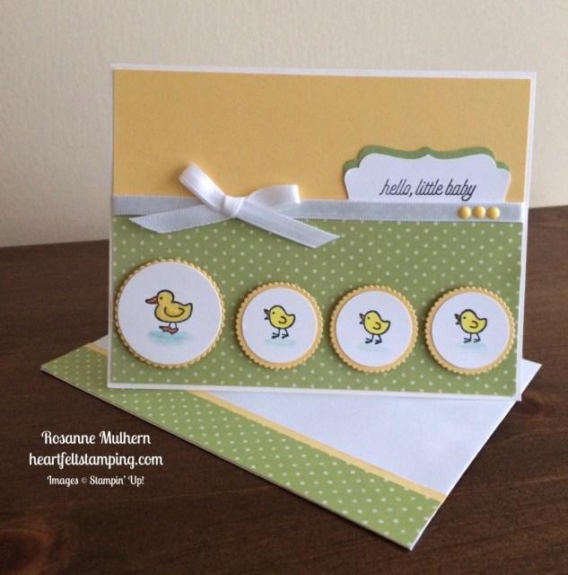 Stampin Up Barnyard Babies Baby Card - Rosanne Mulhern stampinup