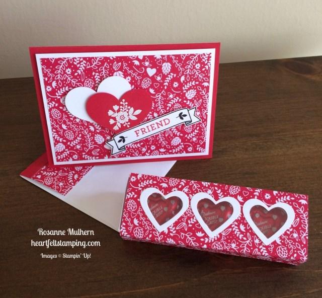 Stampin Up Bloomin Love Valentine card - Rosanne Mulhern stampinup
