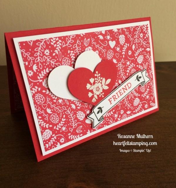 Stampin Up Bloomin Love Valentine card idea - Rosanne Mulhern stampinup