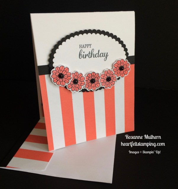 Stampin Up Touches of Texture Birthday Card - Rosanne Mulhern stampinup