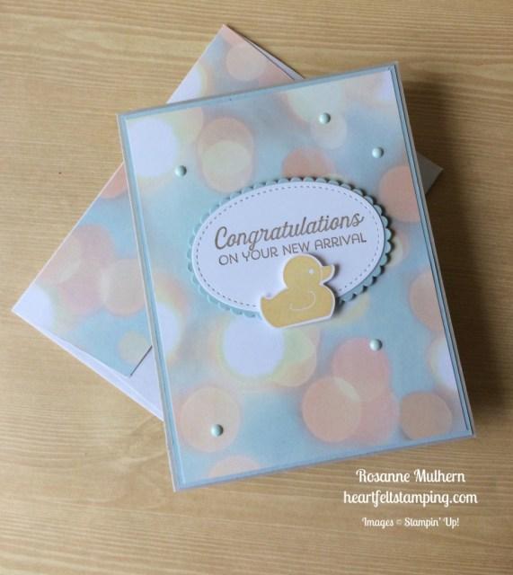 Stampin Up Baby Card - Rosanne Mulhern stampinup