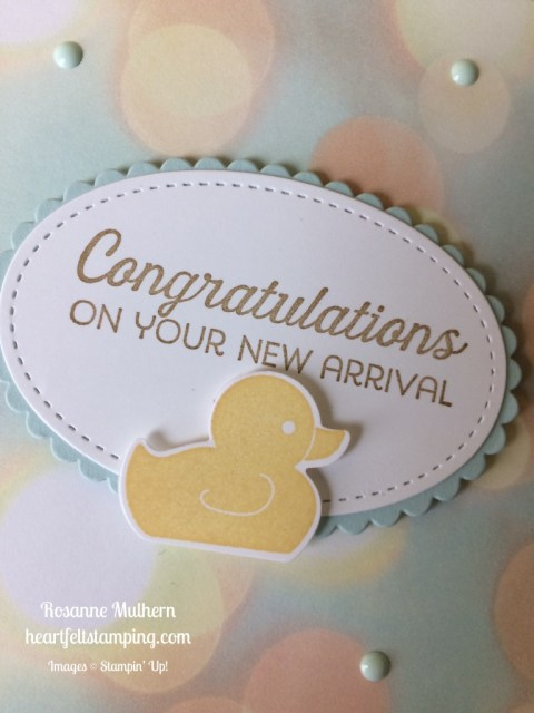 Stampin Up Baby cards ideas - Rosanne Mulhern stampinup