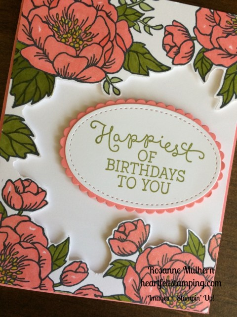 Stampin Up Birthday Blooms Birthday cards idea - Rosanne Mulhern