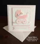 Stampin Up A Sweet Baby Girl Baby Card - Rosanne Mulhern