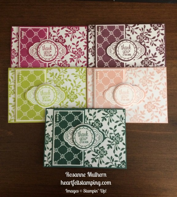 Stampin Up Label Me Pretty Thank You notecards - Rosanne Mulhern