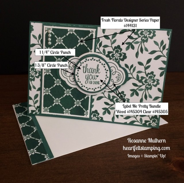 Stampin Up Label Me Pretty Thank you cards - Rosanne Mulhern