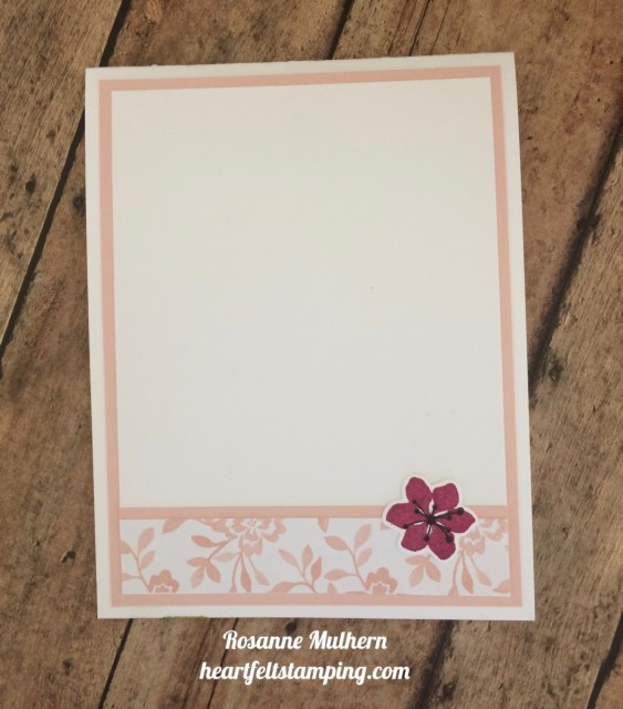 Stampin Up Color Seasons Thank You Cards Idea- Rosanne Mulhern