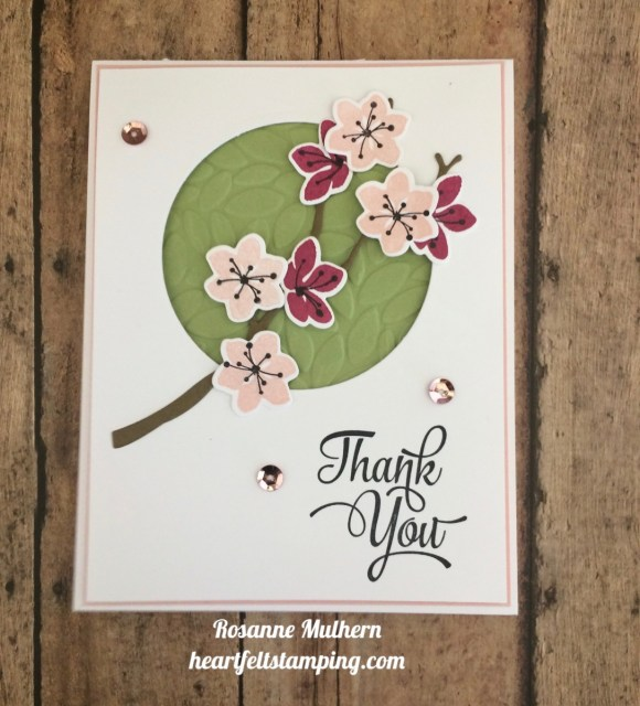Stampin Up Color Seasons Thank You Cards Ideas- Rosanne Mulhern