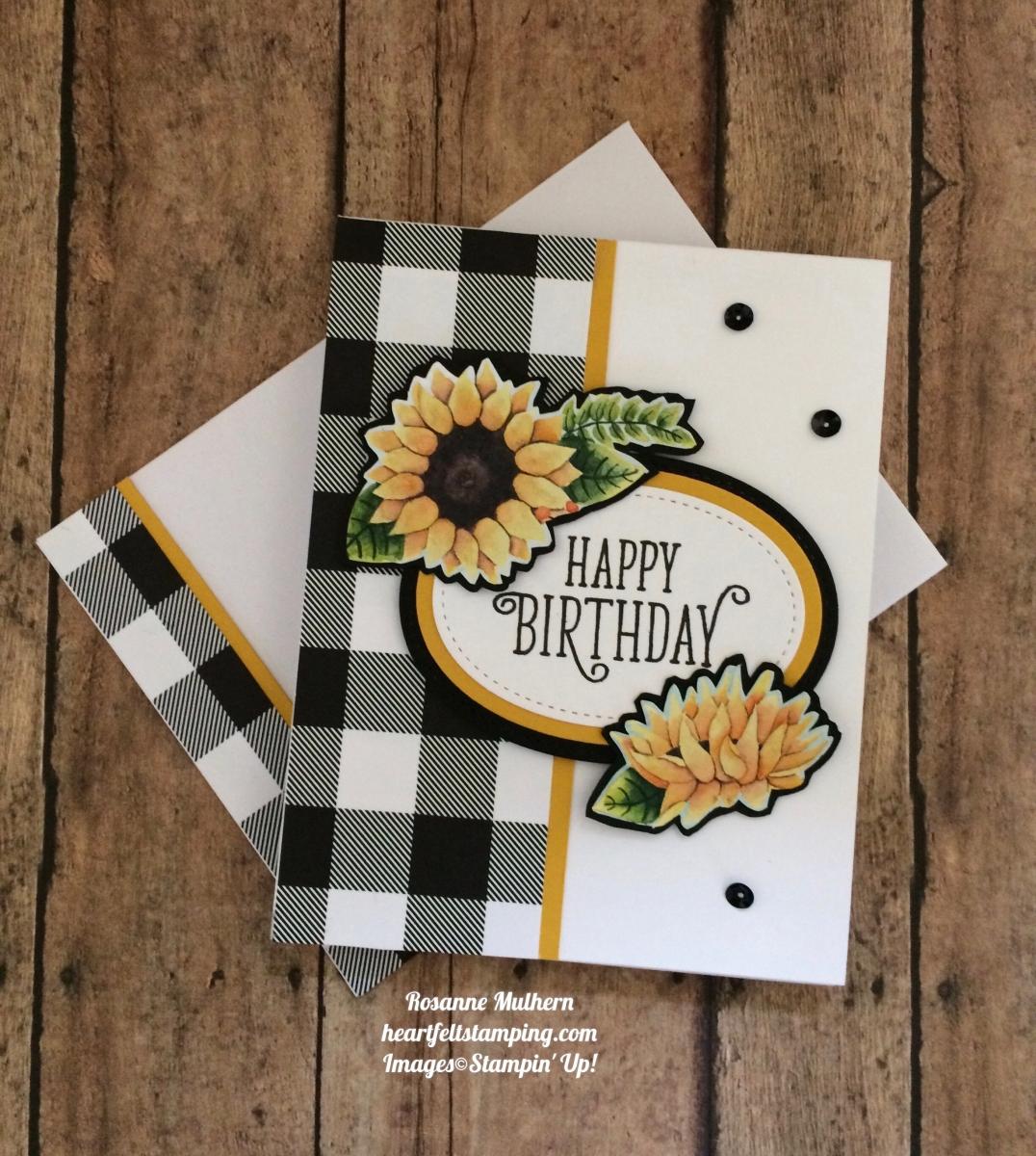 Buffalo Checks Amp Sunflowers Heartfelt Stamping