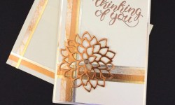 Stampin Up May Flowers with Year of Cheer Washi Thinking of You Card - Rosanne Mulhern