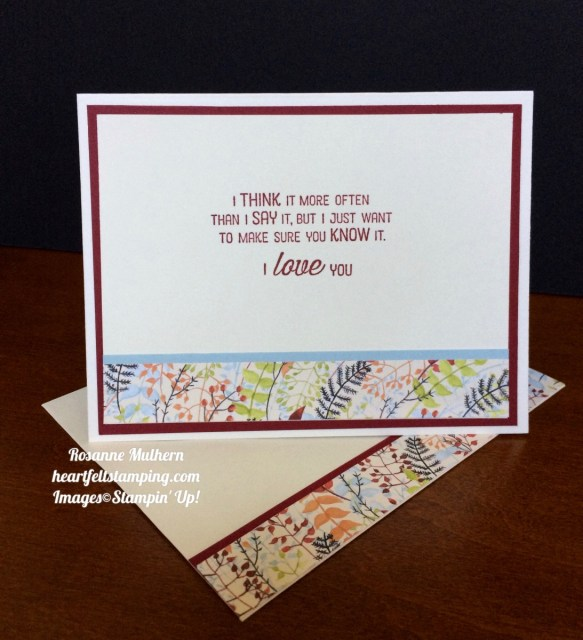 Stampin Up Painted Autumn Lots of Love Thinking of You Cards Ideas- Rosanne Mulhern