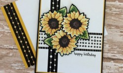 Stampin Up Painted Autumn Washi Tape Birthday Card - Rosanne Mulhern