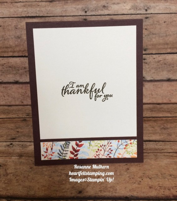 Stampin Up Painted Autumn Wood Textures Thanksgiving Card Idea - Rosanne Mulhern