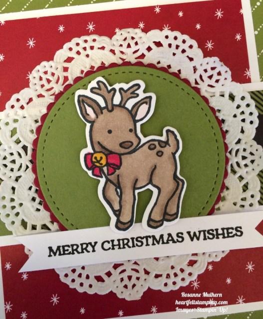 Stampin UP Seasonal Chum Christmas Card Ideas- Rosanne Mulhern