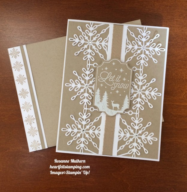 Stampin Up Swirly Snowflakes and Merry Little Labels Christmas Card - Rosanne Mulhern