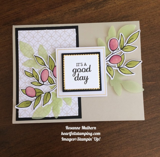 Stampin Up Lots of Happy Card Kit Birthday Card Idea - Rosanne Mulhern