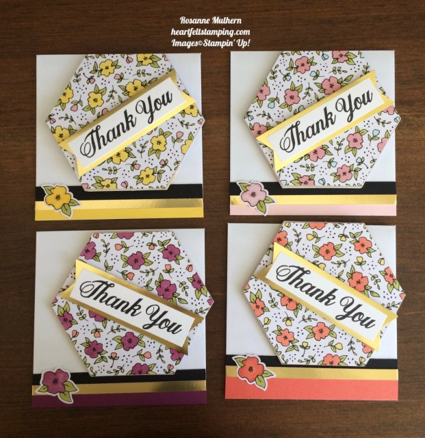 Stampin Up Lots of Happy Card Kit Thank You Note - Rosanne Mulhern