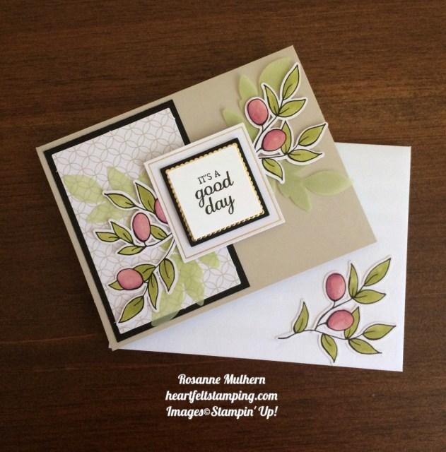 Stampin Up Lots of Happy Card Kits Birthday Card Idea - Rosanne Mulhern
